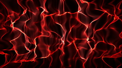 Red Abstract Wave Flag Background