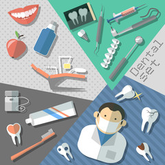 Dental stickers set