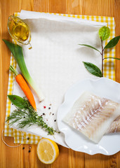 Cod fillets with vegetables