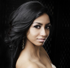 Beautiful young multi-ethnic woman