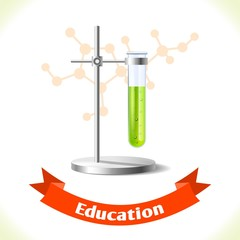 Education icon test tube