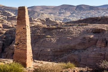 Nabatean obelisk in Petra, Jordan