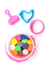 A set of colorful plasticine for kid