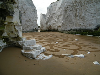 Beach Art - White Sculptured Cliffs