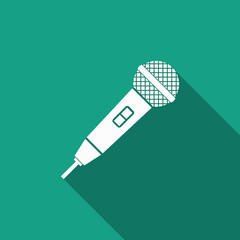 microphone icon with long shadow