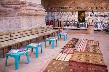 Souvenir shop in Petra Jordan