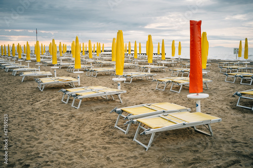 canvas print picture Beach of Caorle, Lido Altanea