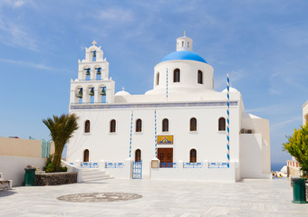 The Orthodox Church in Oia, Santorini.