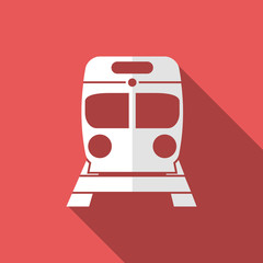 train icon with long shadow