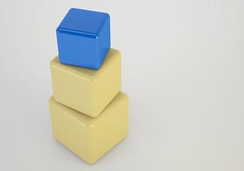 3d cubes stacking box, unique concept