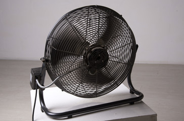 Fan blades turning to produce cool air