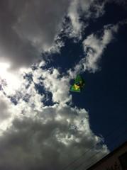Bandeira do Basil no céu