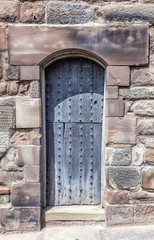 Narrow Rustic worn Medieval Door