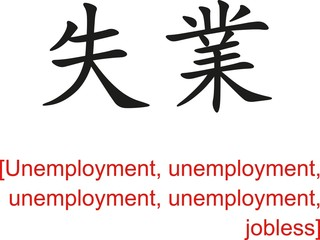 Chinese Sign for Unemployment,  jobless