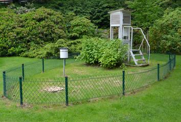Meteorological station in park