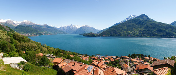 Panorama of the Lake of Como from the Mountains