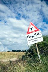Vorsicht Flugplatz