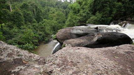 Haew Su Wat Waterfall, Khao Yai National park, Dolly shot.