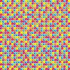 Multicolor mosaic of triangles