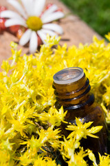 essential oil with yellow flowers