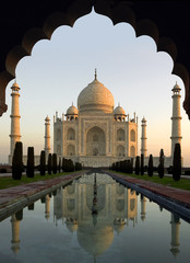 Taj Mahal at Dawn - Agra - India