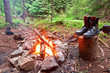 fire and boots