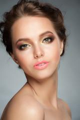 Girl with stylish makeup