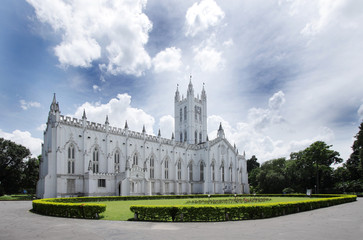 Broad view of St. Paul's Cathedral, kolkata