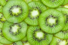 "Постер, картина, фотообои ""Background with fruit kiwi"""