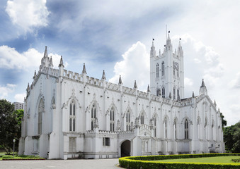 Facade of ancient St. Paul's Cathedral, kolkata