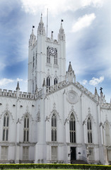 Facade of St. Paul's Cathedral, kolkata