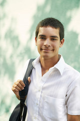 College student-Portrait of young man smiling