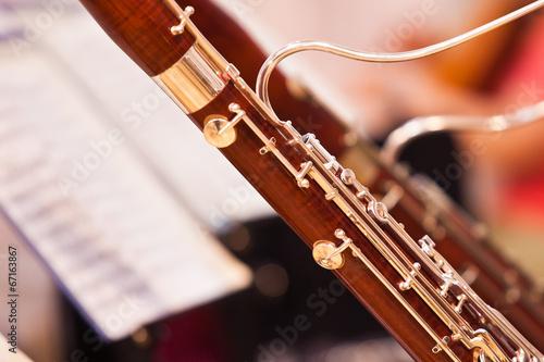 Leinwanddruck Bild Fragment bassoons in a symphony orchestra