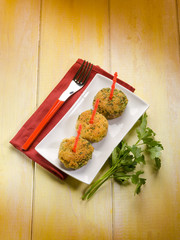 vegetarian meatballs with parsley