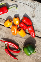 different kinds of pepper