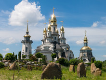 st. Mykolay church in Buky lanscape park, Kiev region, Ukraine