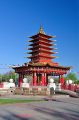 Pagoda of seven days. Elista. Republic of Kalmykia. Russia