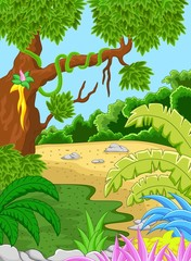 Natural forest background