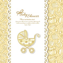 Baby shower, greeting card for baby