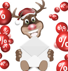 Reindeer Christmas Sale Design
