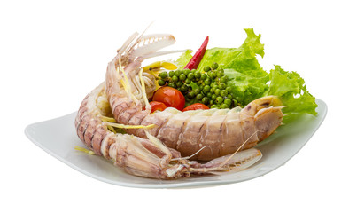 Boiled Spiny lobster