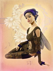 Fairy with Purple Hair, 3d CG