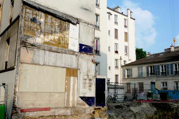 chantier et traces de démolition
