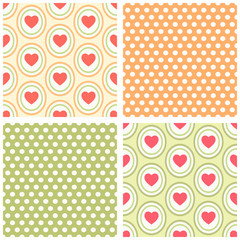 Seamless heart patterns 6