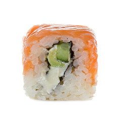 Sushi isolated on a white background.