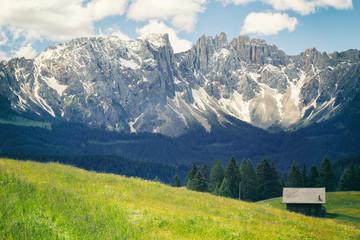 Blick auf Latemar - Südtirol