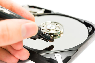 Writing data to harddisk