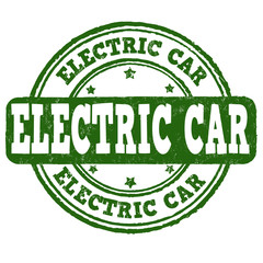 Electric car stamp