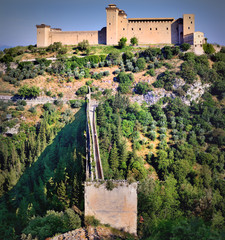 The Albornoz Fortress, Spoleto, Umbria