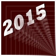 2015 - Jahreszahl abstrakt Silvesterrakete